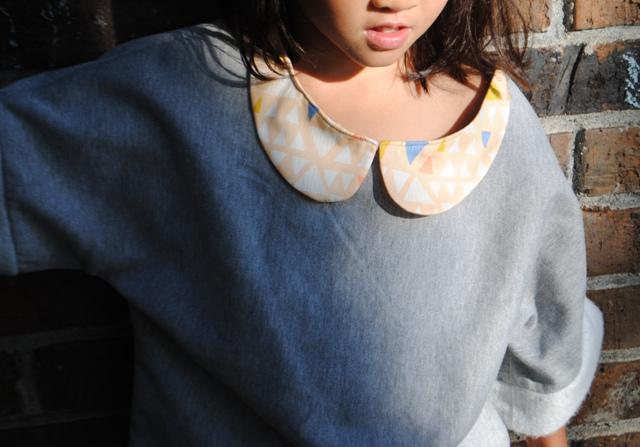 Kaleidoscope top w peterpan collar